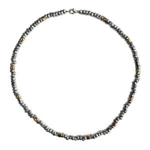 Sumptuous Silver Gold Necklace
