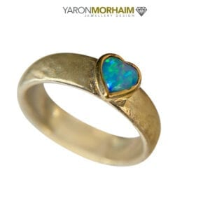 Heart Silver Gold Ring