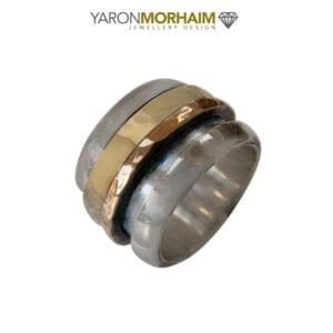Statement Silver & Gold Spinning Ring
