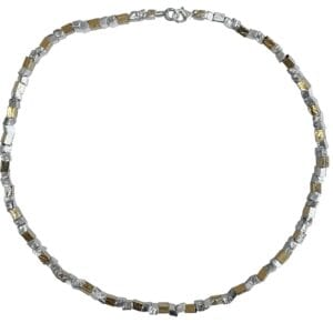 Organic Silver Gold Necklace