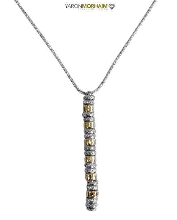 Elegant silver gold necklace