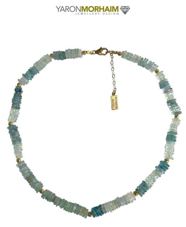 Blue Apatite Aquamarine necklace