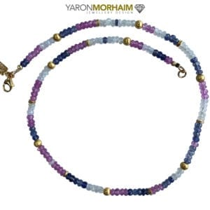 Necklace Topaz Moonstone Iolite