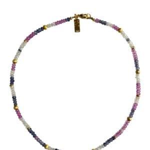Necklace Topaz Moonstone Iolite