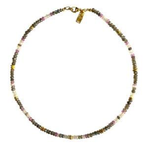 Labradorite Moonstone Topaz necklace
