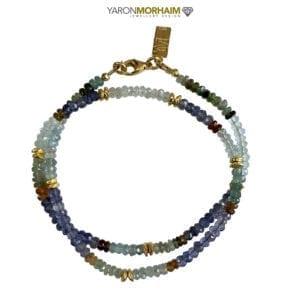Necklace Tourmaline Aquamarine Iolite Gemstones