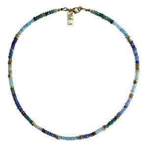 Necklace Tourmaline Aquamarine Iolite