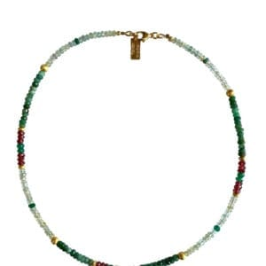 Multi colour Gemstones necklace