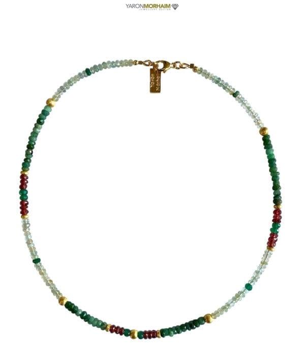 Multi colour Gemstones necklace