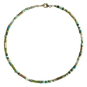 Necklace Aquamarine Topaz Lapis