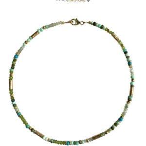 Necklace Aquamarine Topaz & Lapis