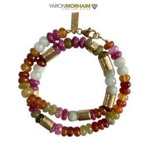 Tourmaline, Moonstone & Cornelian Gemstone Luxury Necklace