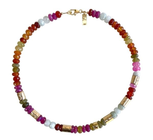 Tourmaline Moonstone Cornelian Necklace