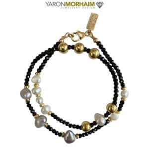 Black Spinel Pearl Necklace