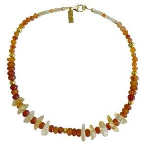 Opal Cornelian Citrine Necklace