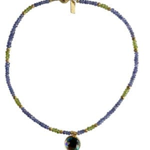 Necklace Tanzinite Peridot Rainbow