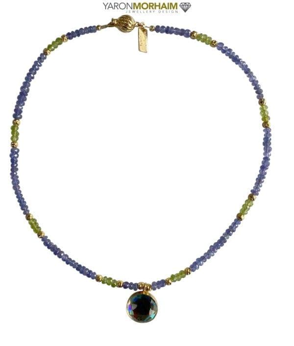 Necklace Tanzinite Peridot Rainbow