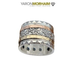Dazzling Silver & Gold Spinning Ring