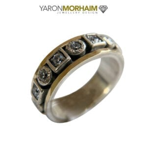 Silver & Gold Contemporary Spinner Ring