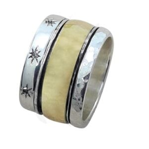 Silver Yellow Gold Ring