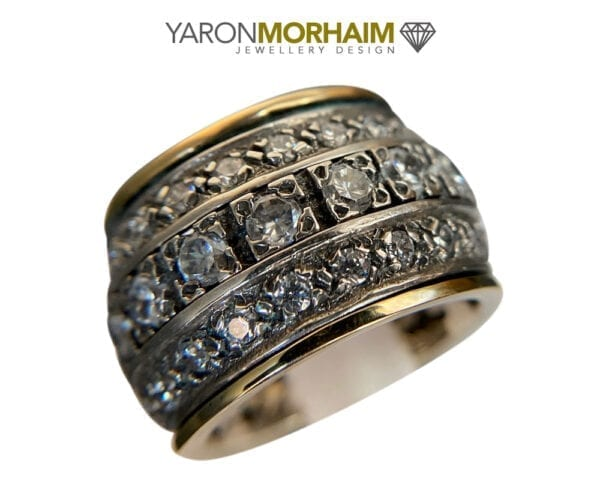 Silver & Gold Statement Spinner Ring