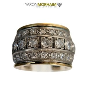 Silver Gold Statement Ring