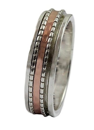 Fine Silver Gold Spinning Ring
