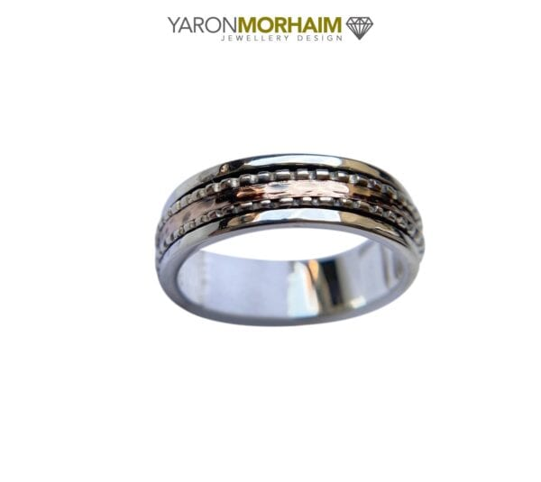 Fine Silver Gold Ring