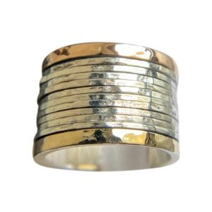 Ring Spinning Silver Gold