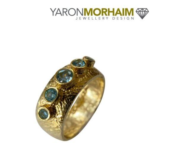 Handmade Blue Topaz Ring