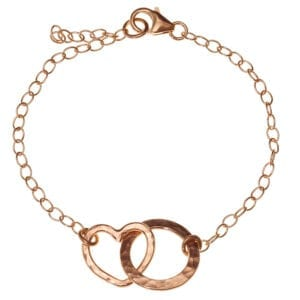 Entwined loop heart bracelet