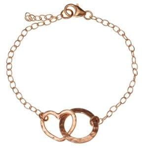 Entwined loop heart bracelet
