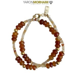 Gemstones necklace Cornelian Moonstone