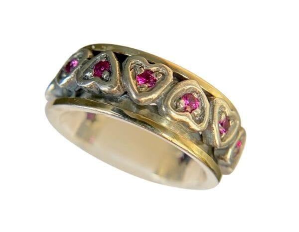 Spinning Heart Ruby Ring