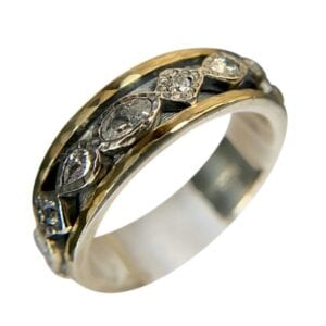 Spinner Ring Silver Gold