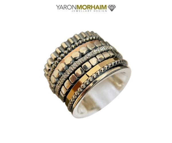 Silver Gold Spinner Ring