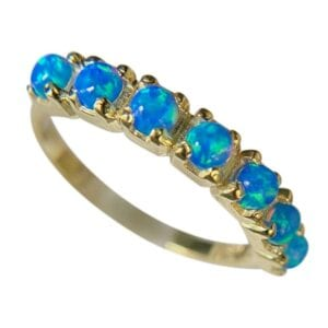 Opal Harlequin Gold Ring