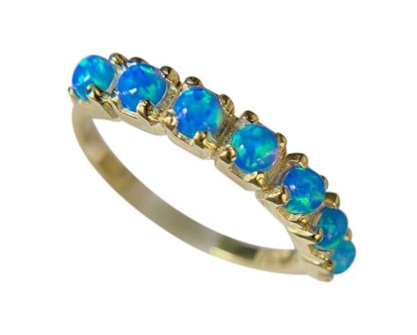 Opal Harlequin Gold Ring