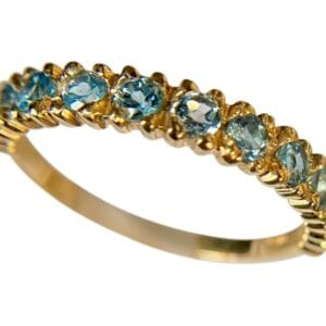 Eternity blue topaz ring