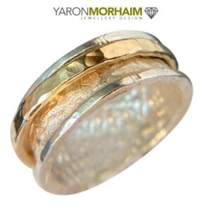 Silver Gold Spinner Ring