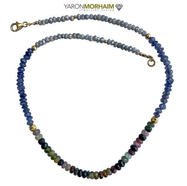Gold Tourmaline Necklace