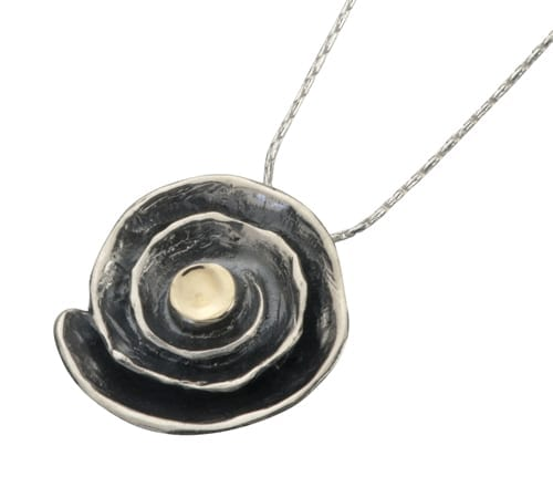 Abstract Silver Gold Necklace