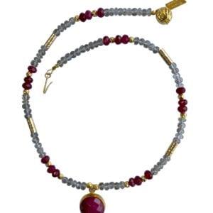 Labradorite Ruby necklace