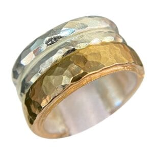 Spinner Silver Gold Ring
