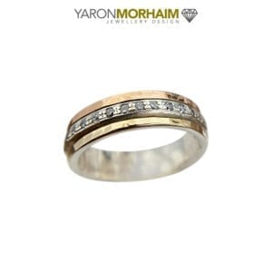 Exquisite Silver & Gold Fusion Ring