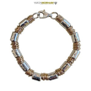Quirky Silver Gold Bracelet
