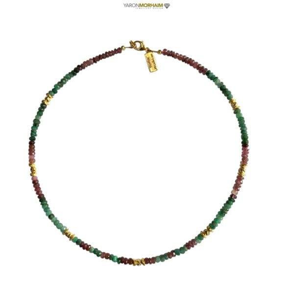 Multi Colour Tourmaline and Emerald Luxury Necklace