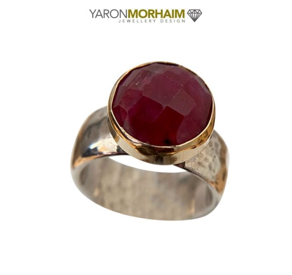 Ruby Silver Gold Ring