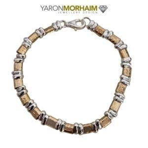 14c Rolled Gold & Silver Bracelet