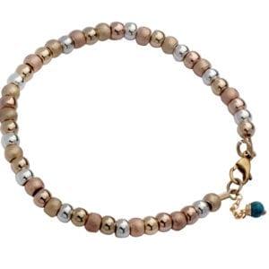 Silver & Rose Gold Spheres Bracelet
